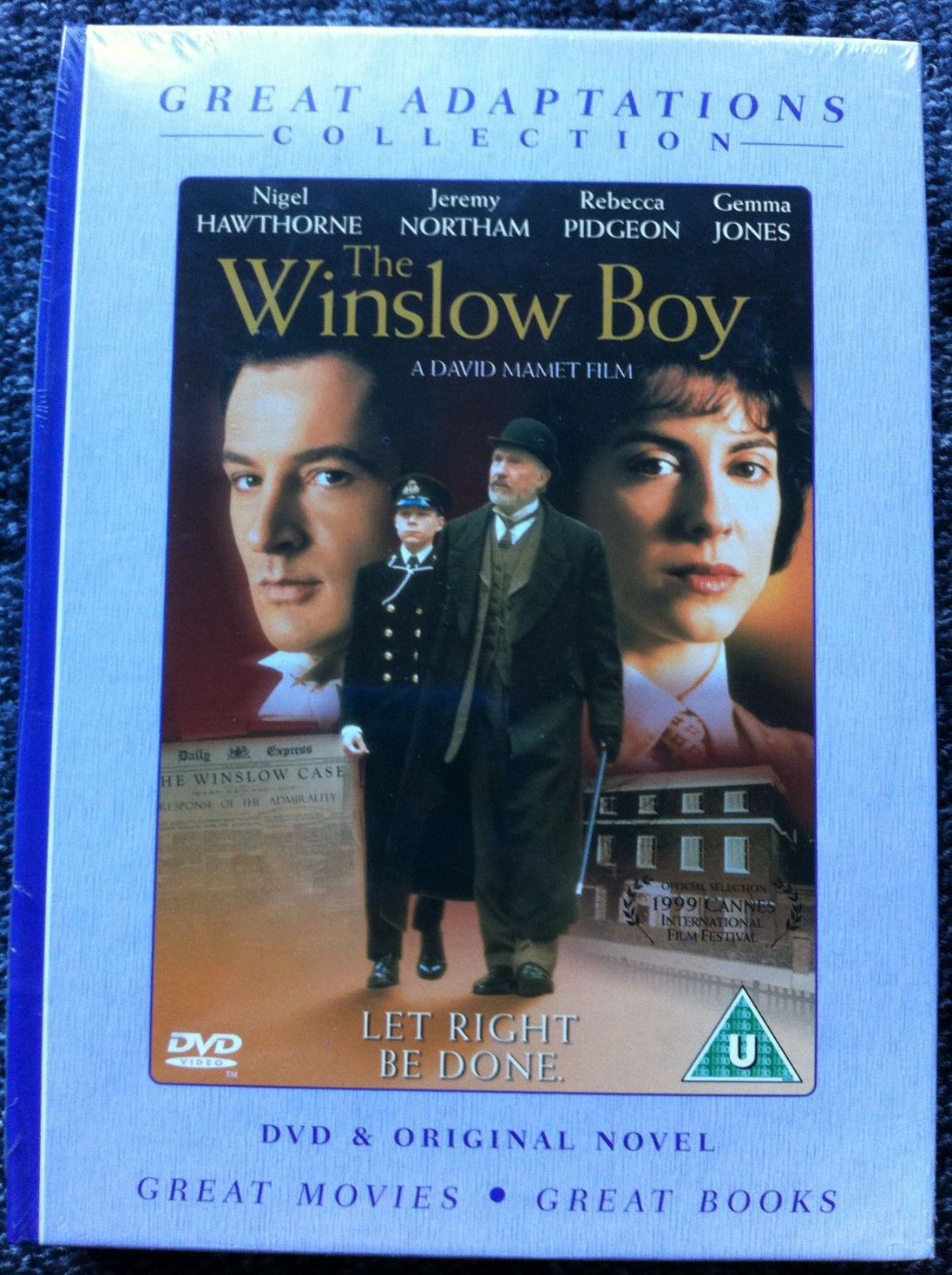 GREAT ADAPTATIONS COLLECTION - THE WINSLOW BOY - NOVEL AND DVD 2007 (NEW N SEALED